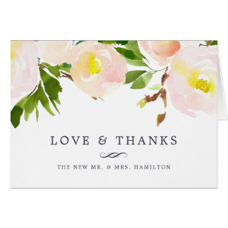 Spring Blush | Floral Thank You Card