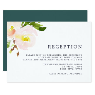 Spring Blush Reception Card