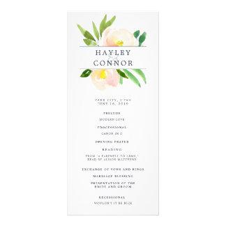 Spring Blush Wedding Ceremony Program