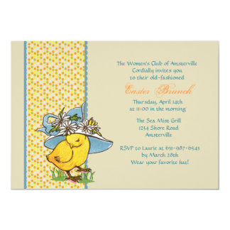 Spring Bonnet Invitation