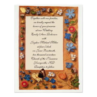 Spring Book of Hours Wedding Invitation
