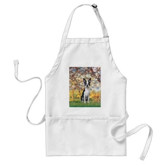 Spring - Boston Terrier #1 Adult Apron