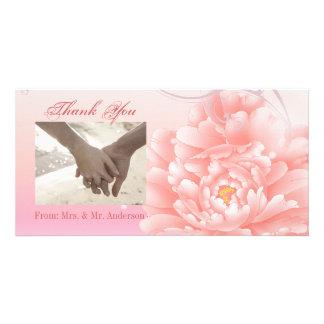 Spring Botanical  pink peony wedding Card