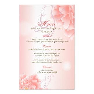 Spring Botanical  pink peony wedding Stationery