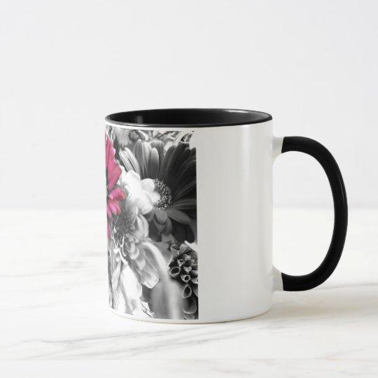 Spring Bouquet Black & White Mug