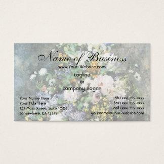 Spring Bouquet by Pierre Renoir, Vintage Flowers Business Card