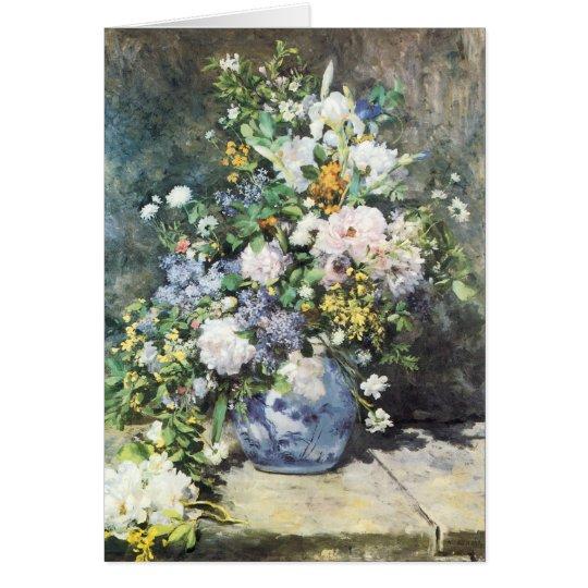 Spring Bouquet by Pierre Renoir, Vintage Flowers Card