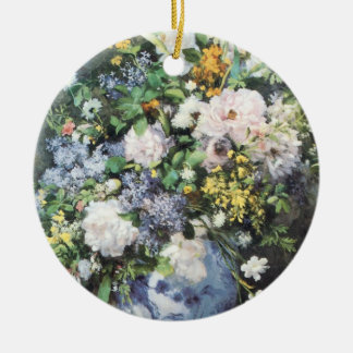 Spring Bouquet by Pierre Renoir, Vintage Flowers Ceramic Ornament