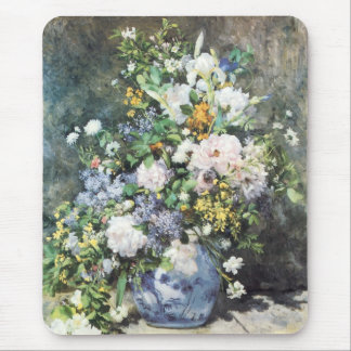 Spring Bouquet by Pierre Renoir, Vintage Flowers Mouse Pad