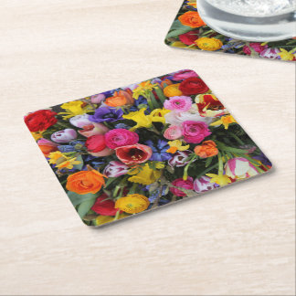 Spring bouquet by Thespringgarden Square Paper Coaster