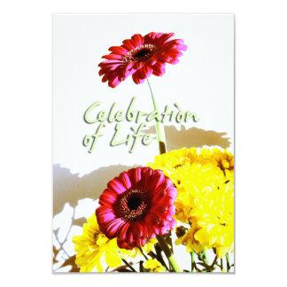 "Spring Bouquet - Celebration of Life - Custom 3.5"" X 5"" Invitation Card"
