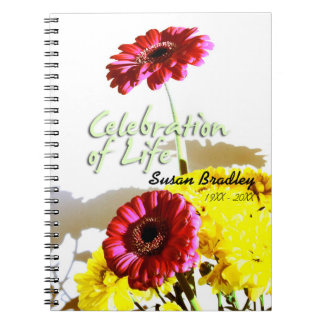 Spring Bouquet Celebration of Life Guest Book Notebook