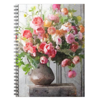 Spring Bouquet Floral Study Spiral Notebook