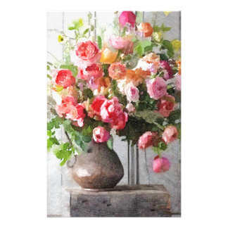 Spring Bouquet Floral Study Stationery