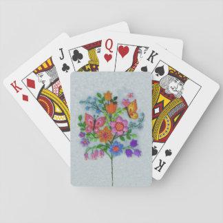 Spring Bouquet Flowers Butterflies Deck Of Cards
