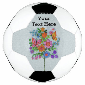 Spring Bouquet Flowers Butterflies Soccer Ball