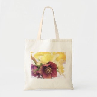 Spring Bouquet - Hellebores and Daffodils Canvas Bags