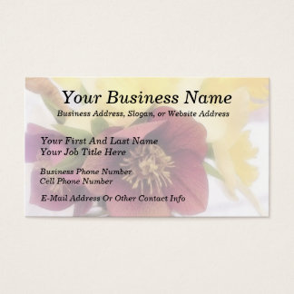 Spring Bouquet - Hellebores and Daffodils Business Card