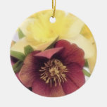 Spring Bouquet - Hellebores and Daffodils Christmas Tree Ornaments