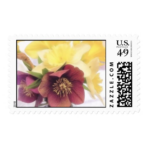 Spring Bouquet - Hellebores and Daffodils Stamp