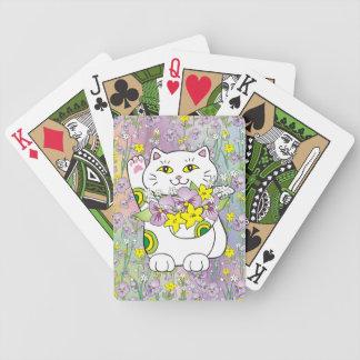 Spring Bouquet Maneki Neko (Lucky Cat) Bicycle Playing Cards