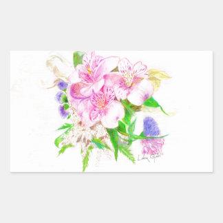 Spring Bouquet Rectangular Sticker