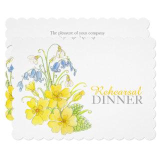 Spring bouquet rehearsal dinner invite