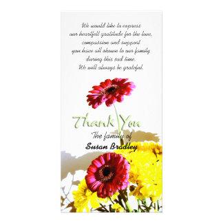 Spring Bouquet Sympathy Thank You 1 Card
