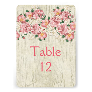 Spring Bouquet Wood Table card