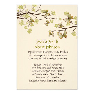 Spring Branches Butterfly Wedding Invite