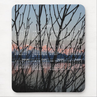 Spring Branches in Sunset; 2013 Calendar Mouse Pad