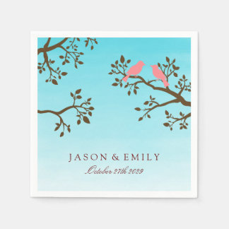 Spring Branches Wedding Napkin