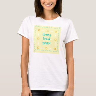 Spring Break 2009 retro yellow design T-Shirt