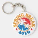 Spring Break 2010 Basic Round Button Keychain