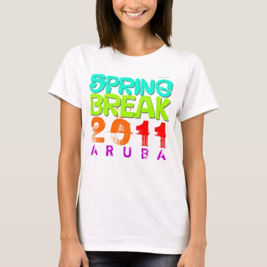 Spring Break 2011 Aruba White T-Shirt