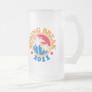 Spring Break 2011 16 Oz Frosted Glass Beer Mug