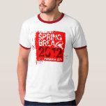 Spring Break 2012 Panama City Shark Red T-Shirt