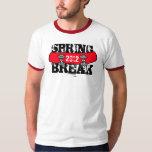 Spring Break 2012 Skateboard Red T-Shirt