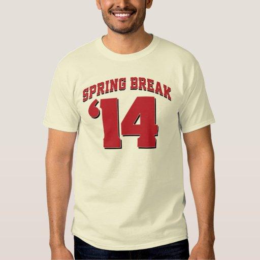 Spring Break 2014 Varsity T-Shirt (Red and Black)