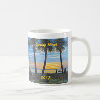 SPRING BREAK 2017 SUNSET PALM TREES  COFFEE MUG