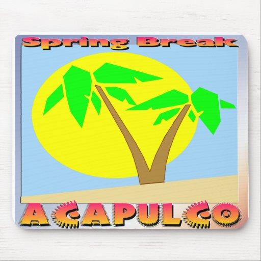 Spring Break Acapulco Mousepads