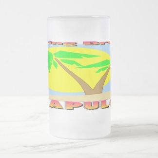 Spring Break Acapulco 16 Oz Frosted Glass Beer Mug