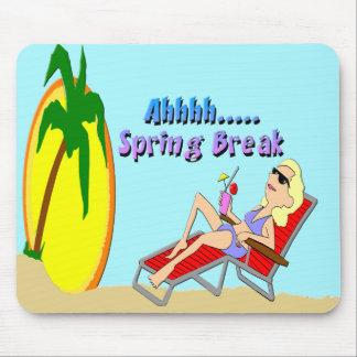 Spring Break Beach Mouse Pad