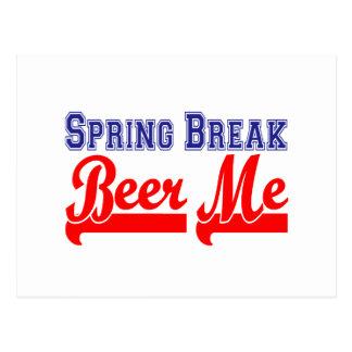 Spring Break Beer Me (Themed Party) Postcard