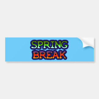 Spring Break Bumper Sticker