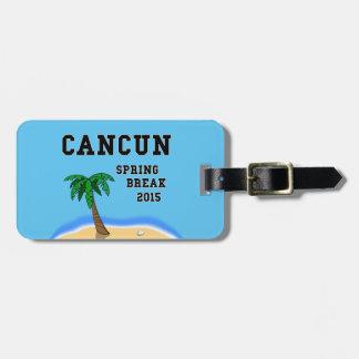 Spring Break Cancun 2015 luggage tag
