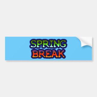 Spring Break Car Bumper Sticker