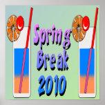 Spring Break Cocktails 2010 Poster