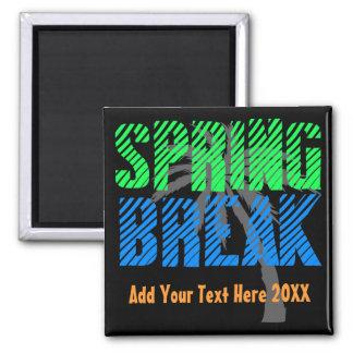 Spring Break Custom Neon Souvenir Magnet