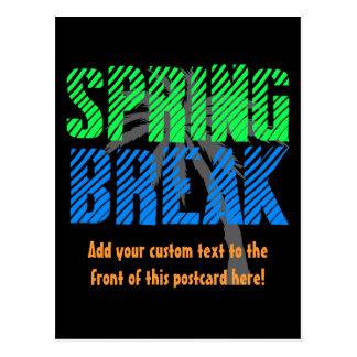 Spring Break Custom Neon Souvenir Postcard